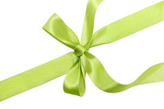 Green ribbon. Isolated on white background Stock Image