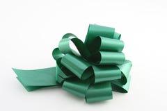 Green ribbon. On white background Stock Photos