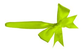 Green ribbon. Isolated on white Royalty Free Stock Photography