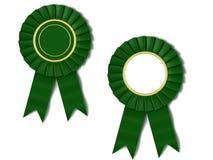 Green ribbon award Stock Photos