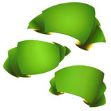 green ribbon banners ,clipart Stock Photography