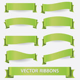 Green ribbon banners eps10 Royalty Free Stock Image