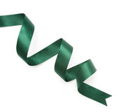 Green ribbon border  on white Stock Photography