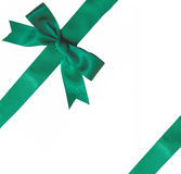 Green ribbon bow Royalty Free Stock Images