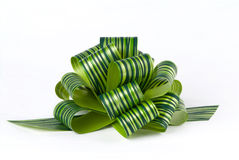 Green Ribbon Bow. A nice green ribbon bow Stock Photos
