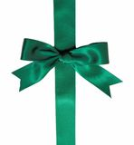 Green ribbon bow Royalty Free Stock Photo