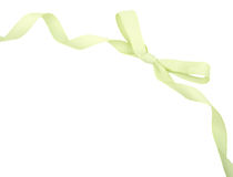 Green ribbon and bow isolated Royalty Free Stock Image