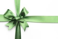 Green ribbon bow Royalty Free Stock Photography