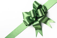 Green ribbon bow Royalty Free Stock Photography