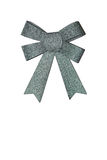 Green ribbon with a bow Stock Photo