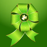 Green Ribbon Bow Set Stock Images