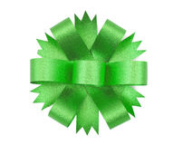 Green ribbon bow Stock Photo