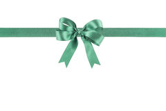 Green ribbon with a bow Royalty Free Stock Photography