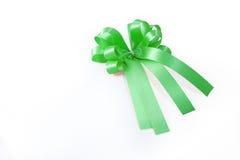 Green ribbon and bow Stock Image