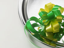 Green ribbon bows Royalty Free Stock Image
