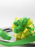Green ribbon bows Stock Photography