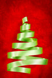Green ribbon Christmas tree Royalty Free Stock Photos