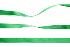 Green ribbon collection Stock Images