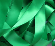 Green ribbon, design element Stock Photos