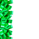 Green ribbon frame  isolated on white background Royalty Free Stock Images