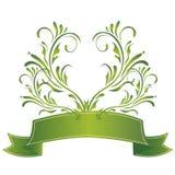 Green ribbon Royalty Free Stock Photography