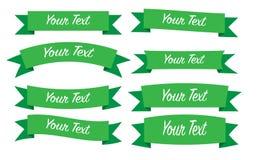 Green ribbon Set. Ribbon set, fully editable files included Vector Illustration