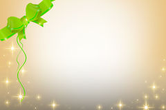 Green ribbon and stars , abstrack background Royalty Free Stock Photo