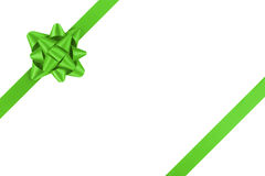 Free Green Ribbon Template For Packaging With Gift Bow Stock Image - 63291961