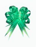 Green ribbon on white Stock Photo