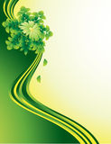 Green ribbons background Royalty Free Stock Image