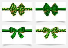 Green ribbon set Royalty Free Stock Images