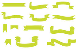 Green ribbons Royalty Free Stock Images