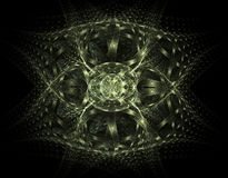 Green Ribbons Fractal Design Stock Images