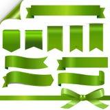 Green Ribbons Set Stock Image