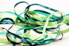 Chaos green ribbons Royalty Free Stock Photos