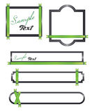 Green ribon Banners. Banners whit green ribbons illustrations Royalty Free Stock Photography