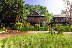 Green rice field in the villa,Thailand Royalty Free Stock Photos