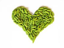 Green rice heart Stock Photo