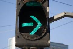 Green Right Arrow Traffic Light Royalty Free Stock Photography