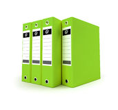 Green Ring binders Stock Images