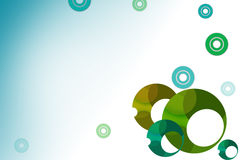 Green ring right side, abstrack background Royalty Free Stock Photos