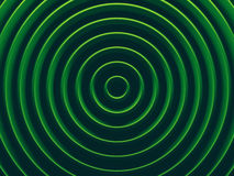 Green rings image for web. Design, wallpaper, modern design, commercial banner and mobile application. 3D illustration Royalty Free Stock Images