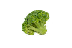 Green rip broccoli isolated Royalty Free Stock Photography
