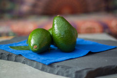 Green ripe avocados ready to eat Stock Photography