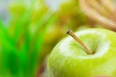 Green ripe big apple Stock Image