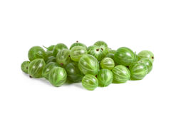 Green Ripe Gooseberries Stock Photo