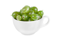 Green Ripe Gooseberries Royalty Free Stock Images