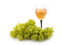 Green and ripe grapes. Green and ripe Royalty Free Stock Images