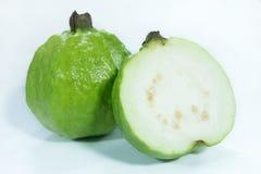 Half fresh organic ripe guava fruits royalty free stock photos