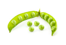 Green ripe pea vegetable isolated Royalty Free Stock Images